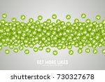 vector 3d social network like... | Shutterstock .eps vector #730327678