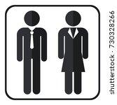businessman and businesswoman...   Shutterstock .eps vector #730328266
