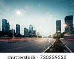 the urban traffic at shenzhen... | Shutterstock . vector #730329232
