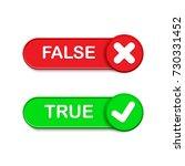 true or false button vector set