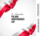 11 november  poland happy... | Shutterstock .eps vector #730334302