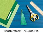 making 3d christmas tree from...   Shutterstock . vector #730336645