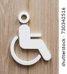 disable person sign for...   Shutterstock . vector #730342516