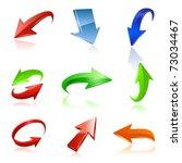 arrow icon set. vector | Shutterstock .eps vector #73034467