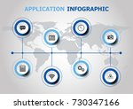 infographic design with... | Shutterstock .eps vector #730347166