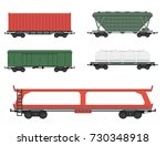 train carriages car railway... | Shutterstock .eps vector #730348918
