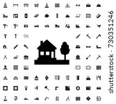 house icon. set of filled... | Shutterstock .eps vector #730351246
