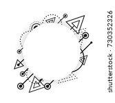 hipster geometric pattern ...   Shutterstock .eps vector #730352326