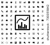 graph chart icon. set of filled ... | Shutterstock .eps vector #730355842