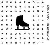 ice skates icon. set of filled... | Shutterstock .eps vector #730357006