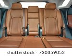 car interior with leather seats | Shutterstock . vector #730359052