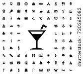 cocktail icon vector isolated...