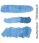 watercolor line of blue paint... | Shutterstock . vector #730366615