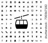 Cable Car Icon Vector Isolated...