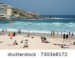 water recreation with crowds at ... | Shutterstock . vector #730368172