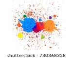 abstract splatter color red... | Shutterstock .eps vector #730368328