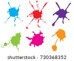 vector color paint splatter.... | Shutterstock .eps vector #730368352