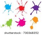 vector color paint splatter.... | Shutterstock .eps vector #730368352
