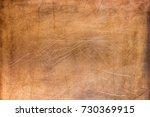 worn sheet copper  metal... | Shutterstock . vector #730369915