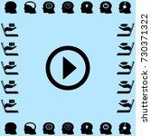 media player button play vector ...   Shutterstock .eps vector #730371322