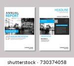 blue annual report brochure... | Shutterstock .eps vector #730374058