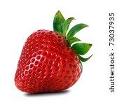 fresh red strawberry | Shutterstock . vector #73037935