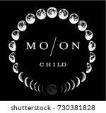 moon logo design. creative logo.... | Shutterstock .eps vector #730381828