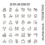 spa icon set. collection of... | Shutterstock .eps vector #730387042