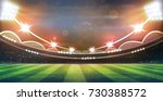 lights at night and football... | Shutterstock . vector #730388572