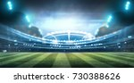 lights at night and football... | Shutterstock . vector #730388626