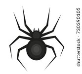 spider icon is a flat style.... | Shutterstock .eps vector #730390105