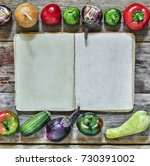 frame of food. autumn seasonal... | Shutterstock . vector #730391002