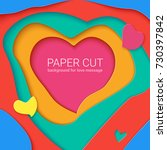 templates with paper cut in... | Shutterstock .eps vector #730397842