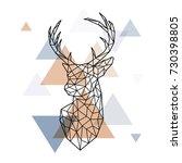 geometric head of the... | Shutterstock .eps vector #730398805