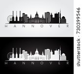 hannover skyline and landmarks... | Shutterstock .eps vector #730399546