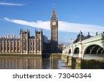 big ben with bridge  london  uk