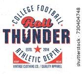 roll thunder   college football ... | Shutterstock .eps vector #730404748