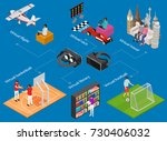people gaming vr concept... | Shutterstock .eps vector #730406032