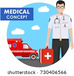 medical concept. detailed... | Shutterstock .eps vector #730406566