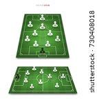 soccer game player tactics plan ... | Shutterstock .eps vector #730408018