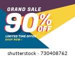 modern geometric sale banner... | Shutterstock .eps vector #730408762