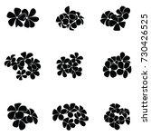 frangipani silhouette   Shutterstock .eps vector #730426525