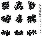 frangipani silhouette   Shutterstock .eps vector #730426558