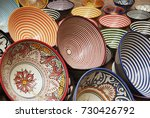 colorful arabic plates in the... | Shutterstock . vector #730426792