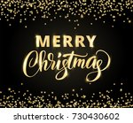 merry christmas card with hand... | Shutterstock .eps vector #730430602