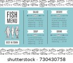 hand drawing vector seafood... | Shutterstock .eps vector #730430758