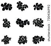 frangipani silhouette | Shutterstock .eps vector #730436992