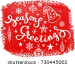 christmas calligraphy   Shutterstock .eps vector #730445002