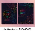 set of cards with liqud colors. ... | Shutterstock .eps vector #730445482