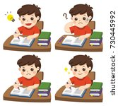 the daily day for boy student... | Shutterstock .eps vector #730445992